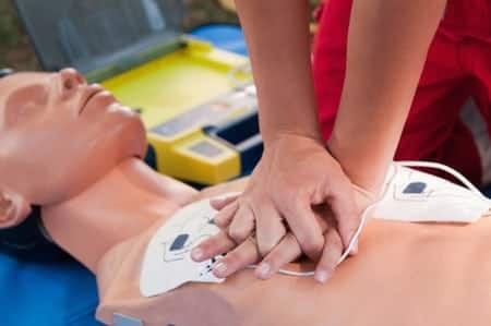training with a defibrillator